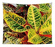 Yellow And Green Croton Tapestry