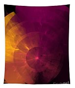 Yellow And Purple Umbrella Top Abstract  Tapestry