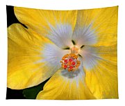 Yellow And White Hibiscus Tapestry