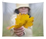 Yellow Autumn Leaf Tapestry