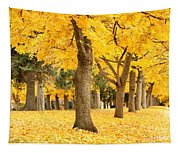 Yellow Autumn Wonderland Tapestry