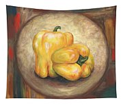 Yellow Bell Peppers Tapestry