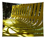 Yellow Bench Tapestry