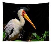 Yellow Billed Stork Peers At Camera Tapestry