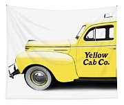 Yellow Cab Square Tapestry