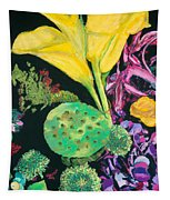 Yellow Cala Lilies Tapestry