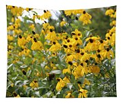 Yellow Cone Flowers Tapestry
