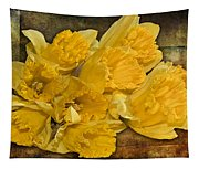 Yellow Daffodils And Texture Tapestry