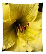 Grace Yellow Day Lily Art Tapestry