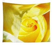 Yellow Diamond Rose Palm Springs Tapestry