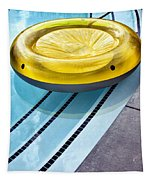 Yellow Float Palm Springs Tapestry