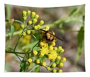 Yellow Flower Bee Tapestry