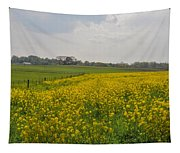 Yellow Flowers In A Field Tapestry