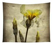 Yellow Iris - Vintage Colors Tapestry