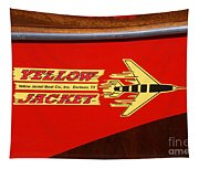 Yellow Jacket Outboard Boat Tapestry