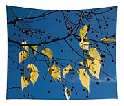 Yellow Leaves And Blue Sky In Autumn Tapestry