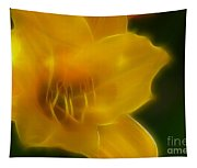 Yellow Lily 6069-fractal Tapestry