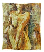 Yellow Nude Tapestry