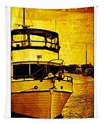 Yellow On The Water Tapestry