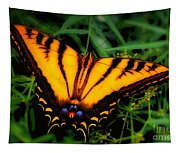 Yellow Orange Tiger Swallowtail Butterfly Tapestry