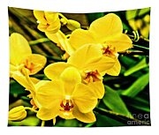 Yellow Orchids Tapestry