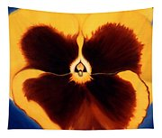 Yellow Pansy Tapestry