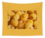 Yellow Raspberry Abstract Tapestry