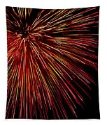 Yellow Red Firework Explosion Tapestry