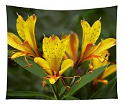 Yellow Red Flower Tapestry