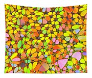 Yellow Red Green Blue Digital Flower Mesh Tapestry