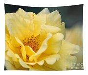 Yellow Rose Macro Tapestry
