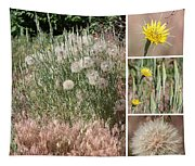 Yellow Salsify Collage Tapestry