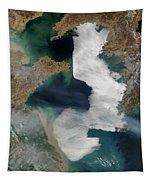 Yellow Sea - Satellite View Tapestry