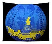 Yellow Submarine Baseball Square Tapestry