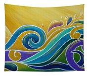 Yellow Sun Surf Tapestry
