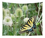 Yellow Swallowtail Butterfly Tapestry