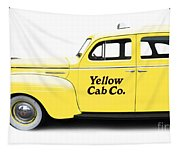 Yellow Taxi Cab Tapestry