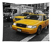Yellow Taxi Color Pop Tapestry