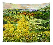 Yellow Trees Tapestry