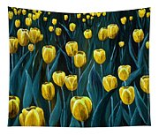 Yellow Tulip Field Tapestry