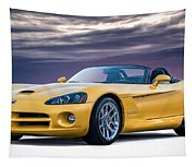 Yellow Viper Convertible Tapestry