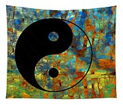 Yin Yang Abstract Tapestry