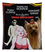 Yorkshire Terrier Art Canvas Print - Some Like It Hot Movie Poster Tapestry