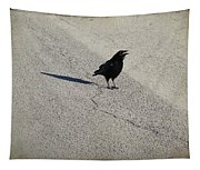 Young Cawing Crow Tapestry