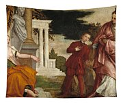 Young Man Between Vice And Virtue Tapestry