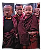 Young Monks II Tapestry
