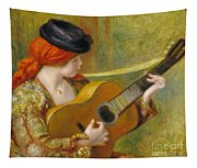 Young Spanish Woman With A Guitar Tapestry