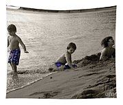 Youth At The Beach Tapestry