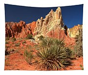 Yucca Badlands And Colors Tapestry