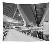 Zakim Bridge Twilight In Boston Bw Tapestry